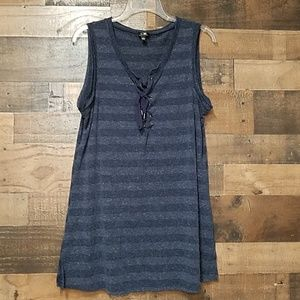 Cable & Guage blue tank top size Large